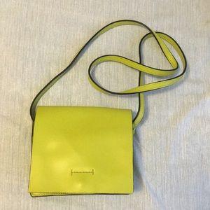 BCBG maxazria lime green leather crossbody bag